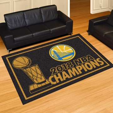 Picture of NBA - Golden State Warriors 2018 NBA Finals Champions 5x8 Plush Rug
