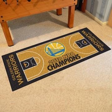 Picture of NBA - Golden State Warriors 2018 NBA Finals Champions NBA Court Large Runner