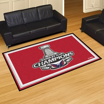 Picture of NHL - Washington Capitals 2018 Stanley Cup Champions 5x8 Plush Rug