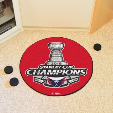 Picture of NHL - Washington Capitals 2018 Stanley Cup Champions Hockey Puck Mat