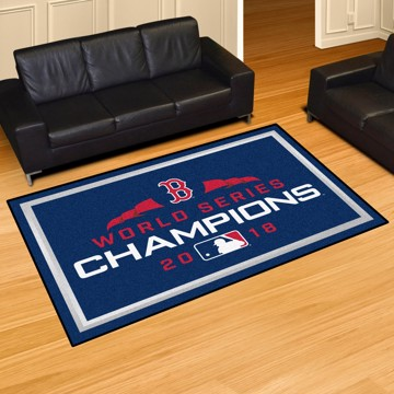 Picture of MLB - Boston Red Sox 2018 World Series Champions 5x8 Plush Rug