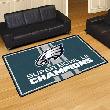 Picture of NFL - Philadelphia Eagles Super Bowl LII Champions 5x8 Plush Rug