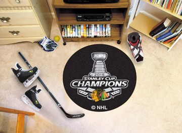 Picture of NHL - Chicago Blackhawks 2015 Stanley Cup Champions Hockey Puck Mat