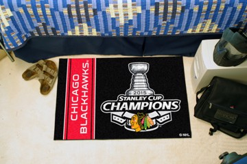 Picture of NHL - Chicago Blackhawks 2015 Stanley Cup Champions Starter Mat