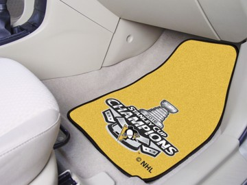 Picture of NHL - Pittsburgh Penguins 2016 Stanley Cup Champions Carpet Car Mat Set