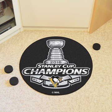 Picture of NHL - Pittsburgh Penguins 2016 Stanley Cup Champions Hockey Puck Mat
