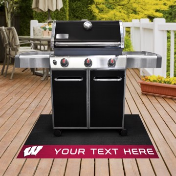 Picture of Personalized University of Wisconsin Grill Mat