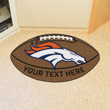 Picture of Denver Broncos Personalized Football Mat