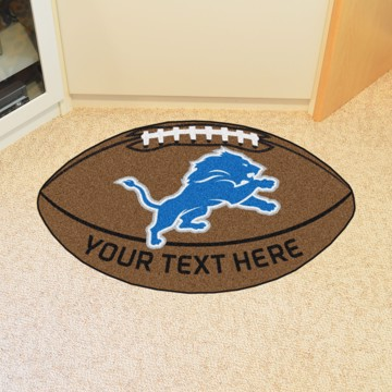 Picture of Detroit Lions Personalized Football Mat
