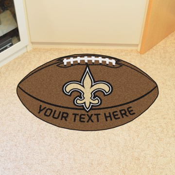 Picture of New Orleans Saints Personalized Football Mat
