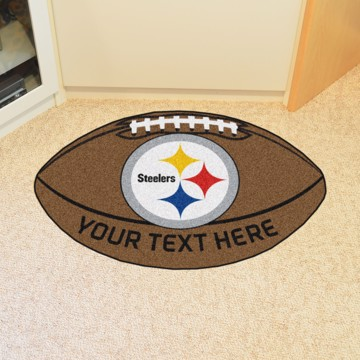 1d406033d39 NFL - Pittsburgh Steelers Personalized Football Mat