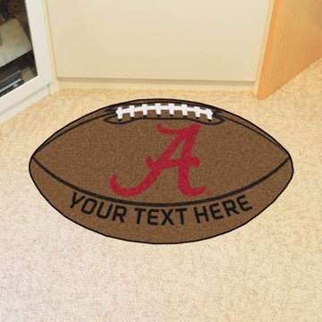 Picture of Alabama Personalized Football Mat