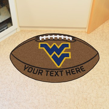 Picture of Personalized West Virginia University Football Mat