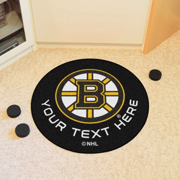 Picture of NHL - Boston Bruins Personalized Hockey Puck Mat