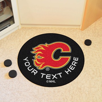 Picture of NHL - Calgary Flames Personalized Hockey Puck Mat
