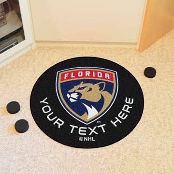 Picture of Florida Panthers Personalized Hockey Puck Mat