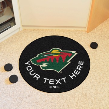 Picture of Minnesota Wild Personalized Hockey Puck Mat
