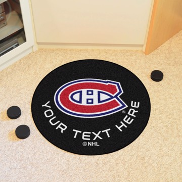 Picture of NHL - Montreal Canadiens Personalized Hockey Puck Mat