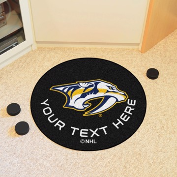 Picture of NHL - Nashville Predators Personalized Hockey Puck Mat