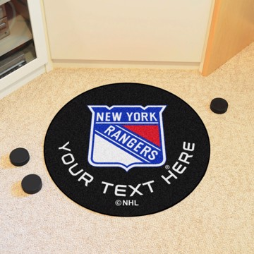 Picture of New York Rangers Personalized Hockey Puck Mat