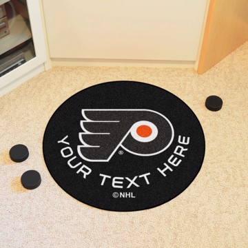Picture of NHL - Philadelphia Flyers Personalized Hockey Puck Mat