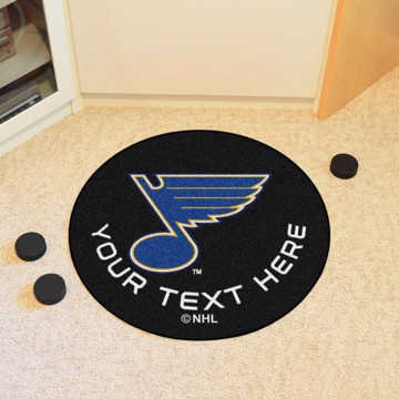 Picture of NHL - St. Louis Blues Personalized Hockey Puck Mat