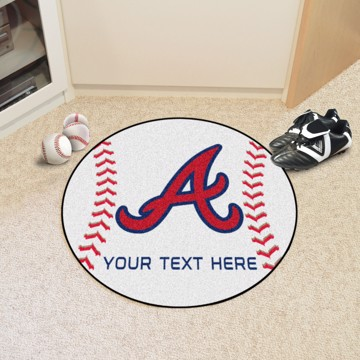 Picture of Atlanta Braves Personalized Baseball Mat
