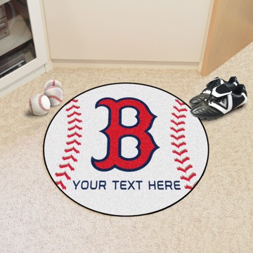 Picture of Boston Red Sox Personalized Baseball Mat