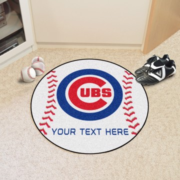 Picture of Chicago Cubs Personalized Baseball Mat