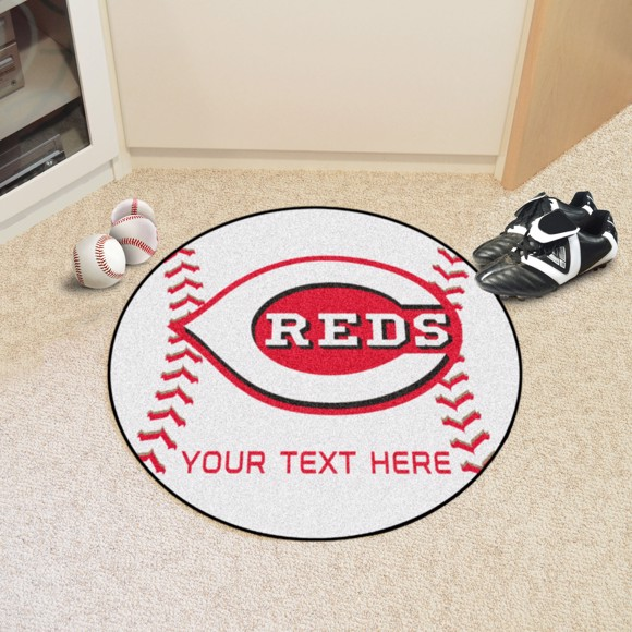 Picture of MLB - Cincinnati Reds Personalized Baseball Mat