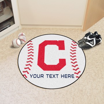 Picture of Cleveland Indians Personalized Baseball Mat