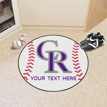 Picture of MLB - Colorado Rockies Personalized Baseball Mat