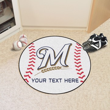 Picture of Milwaukee Brewers Personalized Baseball Mat