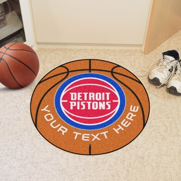 Picture of Detroit Pistons Personalized Basketball Mat