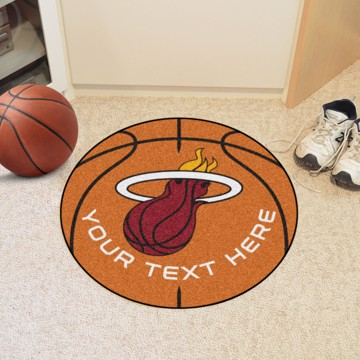 Picture of Miami Heat Personalized Basketball Mat