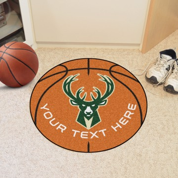 Picture of Milwaukee Bucks Personalized Basketball Mat