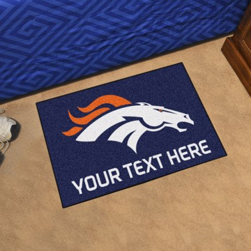 Picture of Denver Broncos Personalized Starter Mat