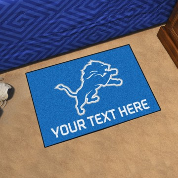 Picture of Detroit Lions Personalized Starter Mat