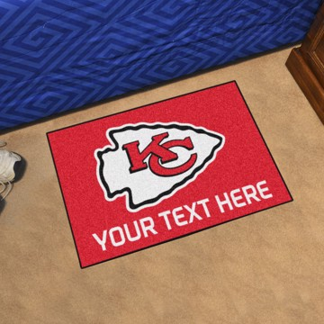 Picture of Kansas City Chiefs Personalized Starter Mat