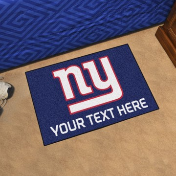Picture of New York Giants Personalized Starter Mat
