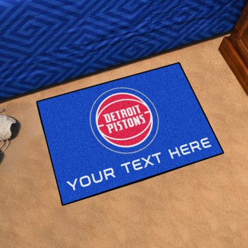 Picture of Detroit Pistons Personalized Starter Mat