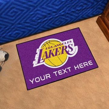 Picture of Los Angeles Lakers Personalized Starter Mat