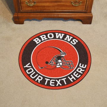 Picture of Cleveland Browns Personalized Roundel Mat
