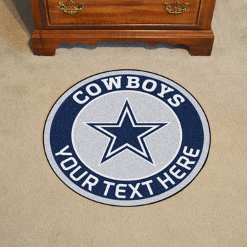 Picture of Dallas Cowboys Personalized Roundel Mat