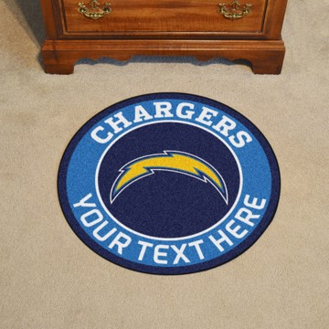 Picture of Los Angeles Chargers Personalized Roundel Mat