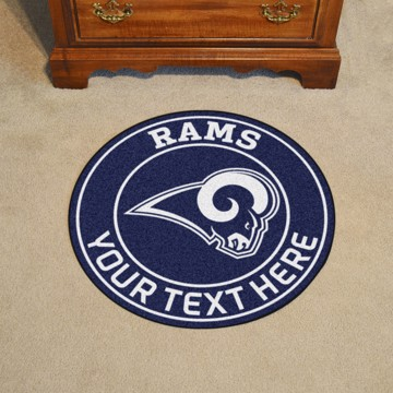 Picture of Los Angeles Rams Personalized Roundel Mat