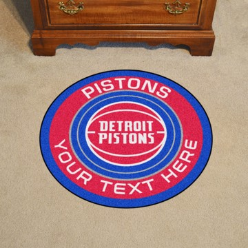 Picture of Detroit Pistons Personalized Roundel Mat