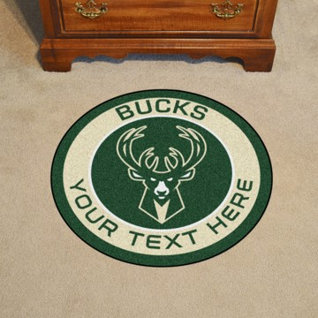 Picture of Milwaukee Bucks Personalized Roundel Mat