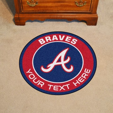 Picture of Atlanta Braves Personalized Roundel Mat