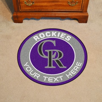 Picture of MLB - Colorado Rockies Personalized Roundel Mat